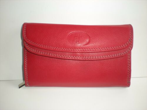 TOP QUALITY DOUBLE FRONTED ZIP ROUND LEATHER PURSES WITH REAR ZIP POCKET 50992