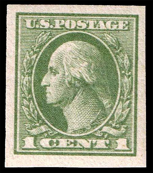 1919 1c George Washington, Imperforate, Green Scott 531