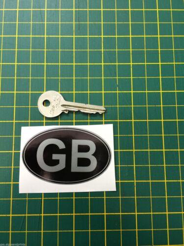 Varie Misure 2 X Quantità GB Argento Ovale Adesivo Stampato