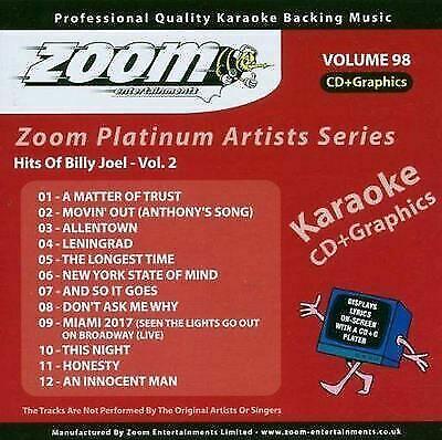 Zoom Karaoke CD G - Platinum Artists 98 Billy Joel Vol  2 CDG for sale  online | eBay