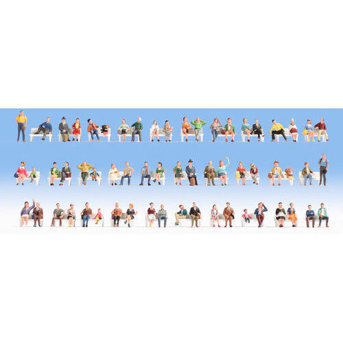 NOCH Sitting People  60  Mega Economy Figure Set HO Gauge Scenics 16071