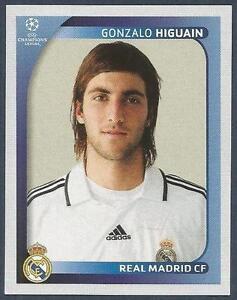 on sale c8afe e27fc Details about PANINI UEFA CHAMPIONS LEAGUE 2008-09- #447-REAL  MADRID-GONZALO HIGUAIN