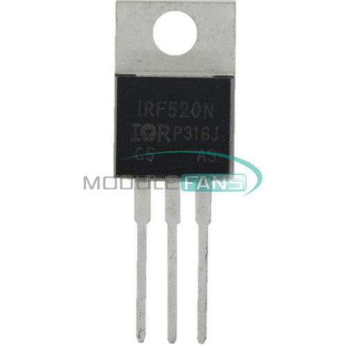10PCS IRF520N IRF520 TO-220 N-Channel IR Power MOSFET