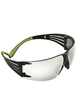 3M SecureFit Safety Glasses with Black/Lime Temples and