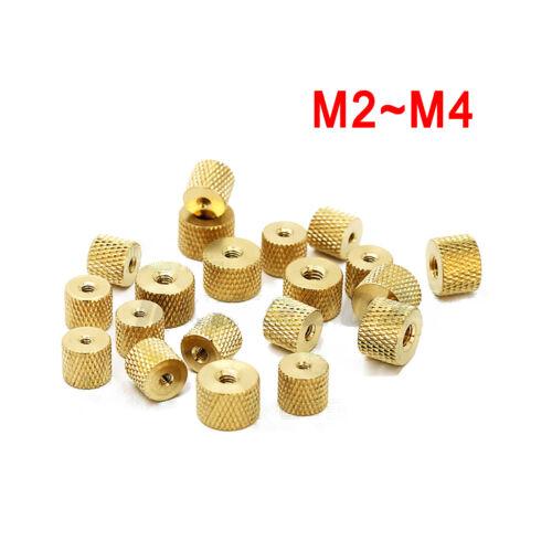 M2 M2.5 M3 M4 Messing Rändelmutter Rund Mutter Rändelmuttern Für Rändelschraube
