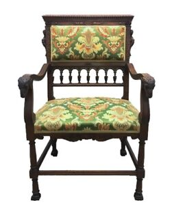 Image Is Loading Antique Scandinavian Fireside Chair  Ramshead Amp Mermaid Siren
