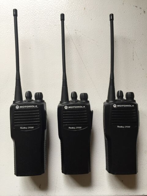 Set Of 3 Motorola CP200 UHF 4 Ch Refurbished 438-470 MHz Radios