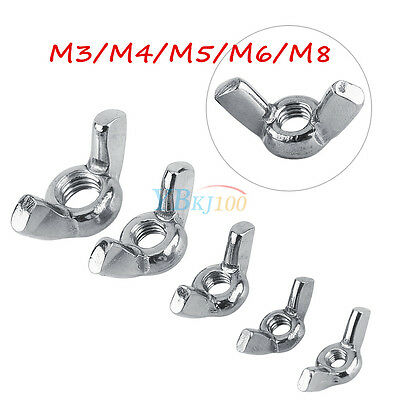 M4 10pcs Wing Nut DIN315 M3-M8 Stainless Steel SS316 Wing Nuts Fastener Supply