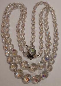 Vintage-Aurora-Borealis-Crystal-Necklace