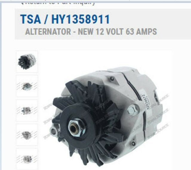 Forklift Parts  New Alternator  Hyster  Yale 3 0gm