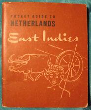 POCKET GUIDE TO NETHERLANDS EAST INDIES, WAR & NAVY DEPARTMENTS, 1944