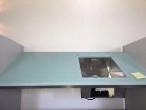 Blanco Einbauspule Edelstahl In Eine Lechner Glasplatte Untergebaut