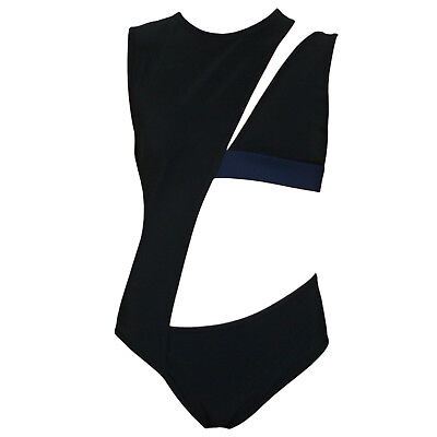 ANTHONY VACCARELLO cut out one piece swimsuit SS16 sexy black bodysuit 38-FR NEW