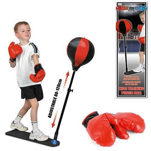 Kids BOXING SET Punch Ball Bag /& Gloves Kit Fitness Exercise Birthday Gift Pack
