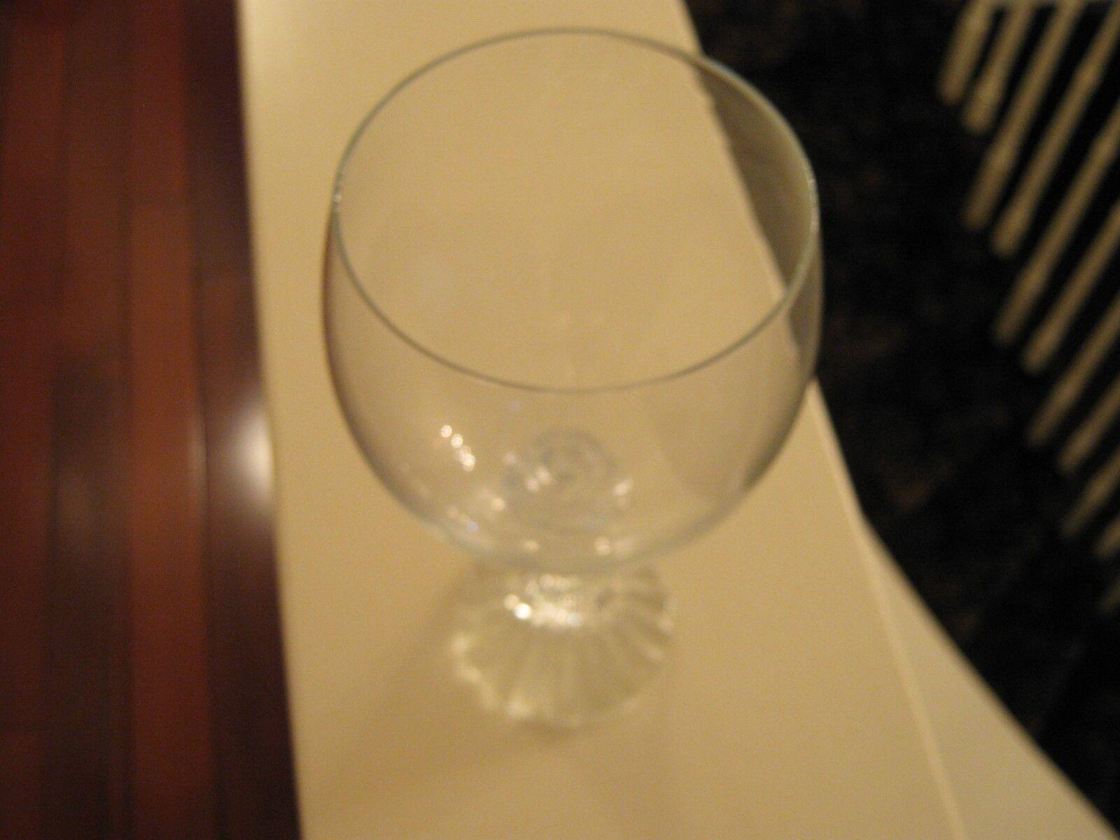 Vintage , Footed ,Wine Glass/Goblet , Set of 5 Clear ,