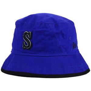 1c9decf9e13 Seattle Mariners New Era MLB Blue Bucket Dub Cap Hat Floppy Beach ...