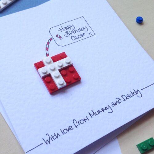 Personalised LEGO ® birthday present card husband son grandson daughter friend