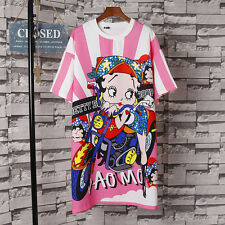 Fashion Harajuku Summer New Kawaii Girl T-shirt Sweet Lolita Loose Dress