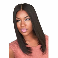 Fashion Medium Straight Middle Part Black Women's Hair Wig Bob Full Wigs