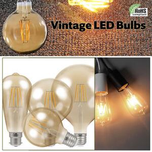 E27-E14-4-6-8W-Vintage-LED-Antique-Retro-Style-Light-Filament-Edison-Lamp-Bulb