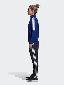 Details zu Neu Adidas Damen CY3519 Tiro Trainingsanzug Tinte Blau Weiß Jacke & Hose Set