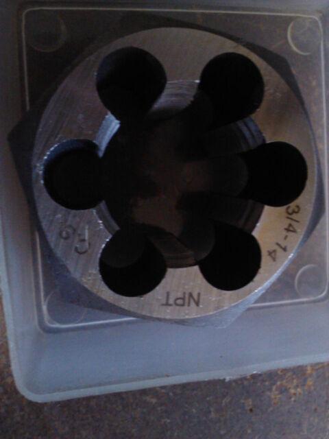 3/4-14 NPT CARBON STEEL HEXAGONAL RE-THREADING PIPE DIE