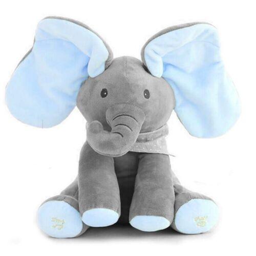 Kids Peek-a-Boo animiertes Reden und Singen Plüsch Teddy Elefant Puppe Spielzeug