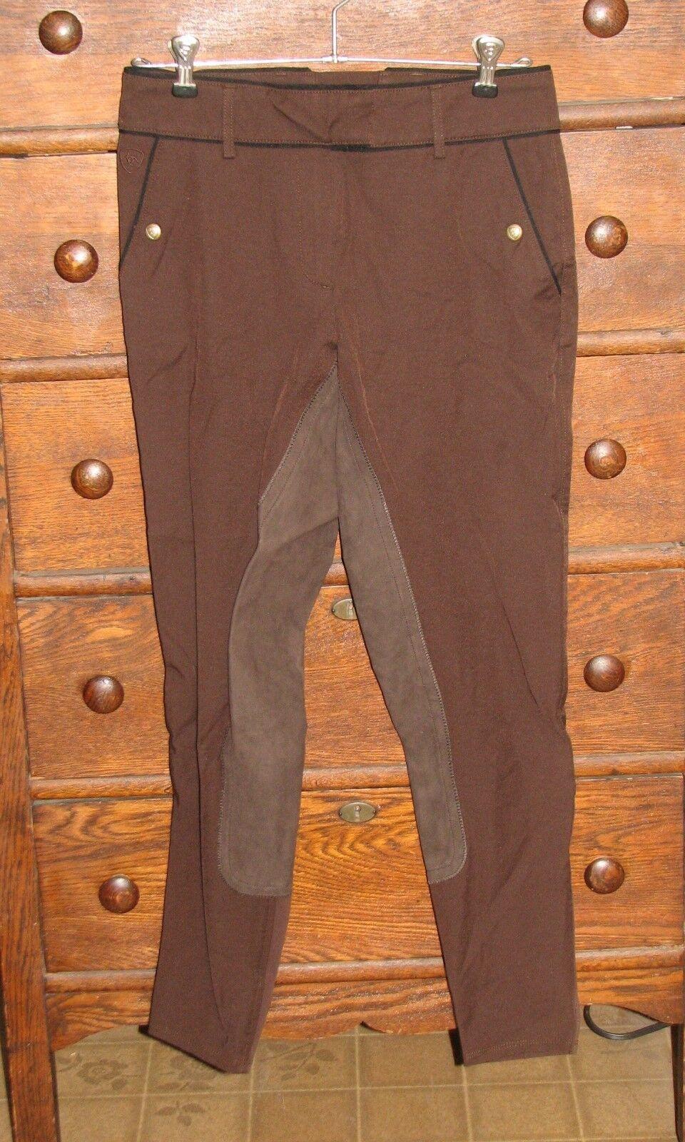 Nuevo circuito Ariat todos Tiro Bajo Pantalones Pantalones De Montar Equitación Ecuestre Marrón para Mujer 24L