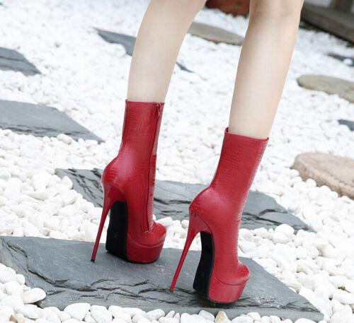 Crossdresser Booties Men/'s Ankle Boots High Heels Drag Queen Black Women Shoes