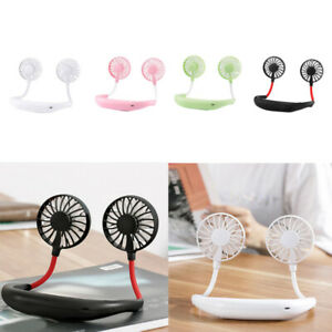 Portable-USB-Rechargeable-Neckband-Lazy-Neck-Hanging-Dual-Cooling-Mini-Fan