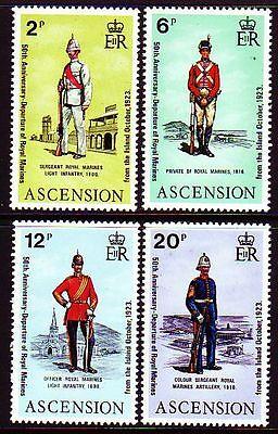 Karibik Sonstige sq3397 Ascension 1973 ** Mi.173/76 Offiziere Der Marineinfanterie