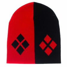 AWESOME OFFICIAL DC COMICS HARLEY QUINN DIAMONDS BEANIE HAT (BRAND NEW)