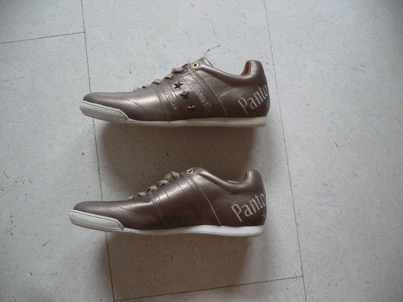 Pantofola d ´Oro Schuhe Sneaker Low Men braun golden glänzend Gr 41 NP 120 NEU