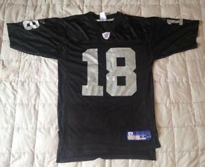 Details about Randy Moss #18 Oakland Raiders NFL Football Reebok Jersey Size Medium
