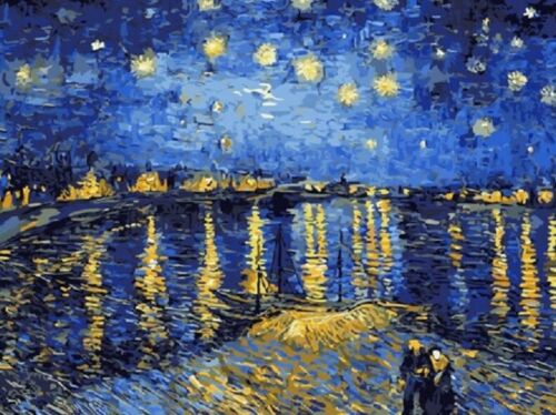 Starry Night Over The Rhone By Vincent Van Gogh Paint By Number Kit DIY Painting