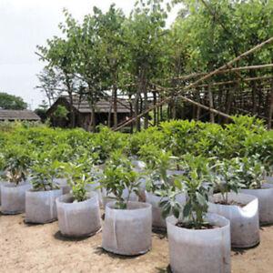 Eg-Hk-Rund-Toepfe-Pflanze-Beutel-Root-Behaelter-Pflanzbeutel-Belueftung-5-Groesse