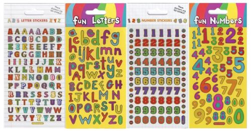 Paper Projects Craft Numbers /& Letters re-usable Foil Stickers Age 3+