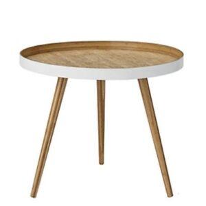 Détails sur Bloomingville Table D\'Appoint Blanc,Meuble en Bambou  Table,Basse 60 cm,3-beinig