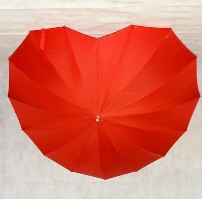 Donna Cuore Rosso Forma Ombrello Antivento Elegante Fashion Ombrello-mostra Il Titolo Originale