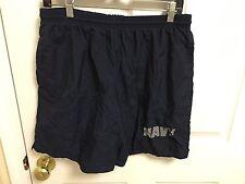 Men's US NAVY Large PT Shorts USN Physical Training Shorts Lined Reflective