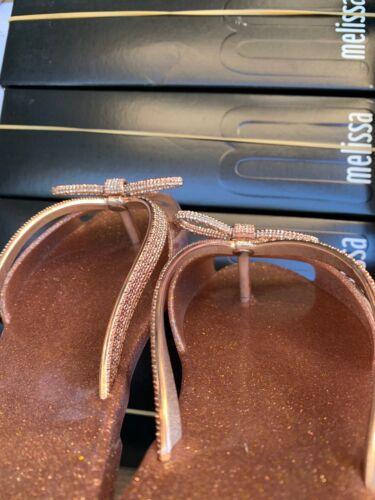 Melissa Ela Chrome Flat made in Brazil MSRP$75 in Rose GLTR