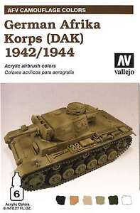 Paint Se 8429551784108 DAK Vallejo Acrylic Paints German Afrika Korps 1942-44