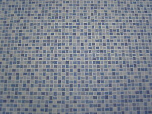 Einzigartig PVC Bodenbelag Mosaik Fliese blau 200 cm Breite pro qm = 9,95 € | eBay NE87