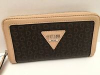 Guess Woman's Wallet Natural Brown W/g Logo Polish Slg Iphone 6+ Clutch