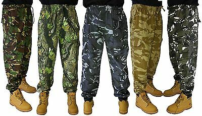 Combat Military Army training style sweat pants camo joggers 5 COLOURS!! S-3XL