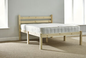 buy popular 08263 f9d16 Details about Kingsize 5ft HEAVY DUTY solid pine king size bed frame -  (EB42)