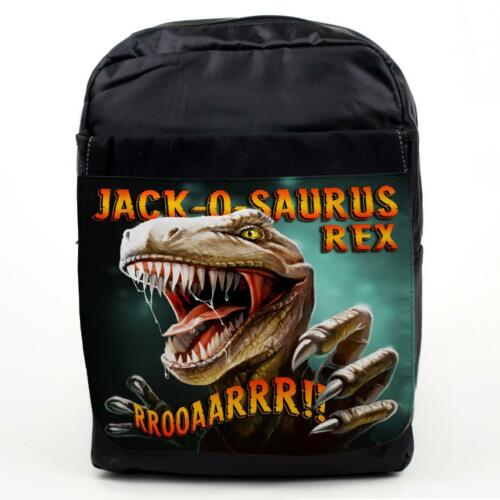 PERSONALISED Kids School Bag JURASSIC T REX Dinosaur Boys Bakcpack NAME KS70