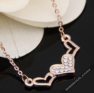 Luxus-Damen-Goldkette-mit-18-Karat-Anhaenger-Geschenk-Herz-vergoldet-Schmuck-37