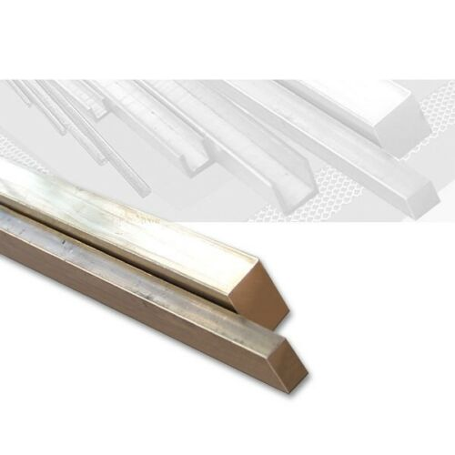 Messing Vierkantprofil 4,0 x 3,0 mm Länge 100 cm, rechteckig