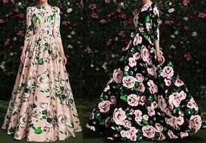 Vestito-Lungo-Donna-Autunno-Fiori-Woman-Autumn-Flowers-Maxi-Dress-110203